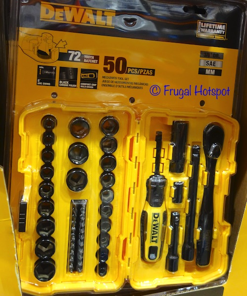 DeWalt 50-Piece Mechanics Tool Set at Costco