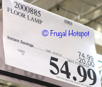 Costco Sale Price of Floor Lamp at Costco 2019