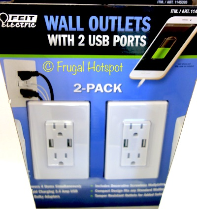 Feit Electric Wall Outlets with USB Ports 2-Pack at Costco