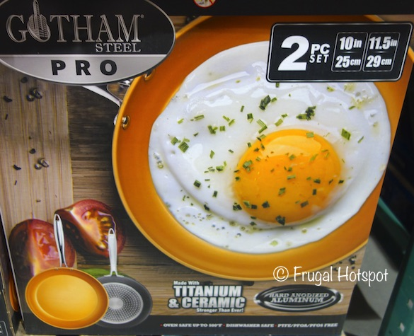 Gotham Steel Pro Nonstick Fry Pan 2-Piece at Costco