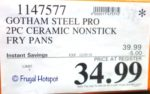 Costco Sale Price: Gotham Steel Pro Nonstick Fry Pan 2-Piece