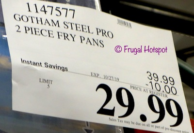 Gotham Steel Pro Nonstick Fry Pan Costco Sale Price