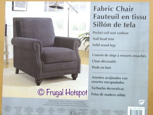 Gray Fabric Chair with Nailhead Trim at Costco