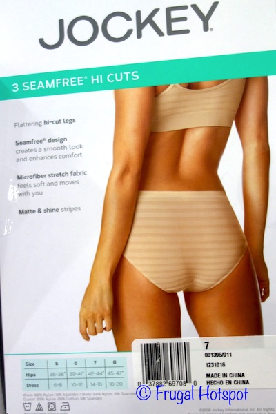 Jockey Ladies Seamfree Hi-Cut Briefs at Costco