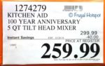 Costco Sale Price: Misty Blue KitchenAid 100-Year Anniversary Limited Edition Heritage Artisan Series 5-Quart Tilt Head Mixer