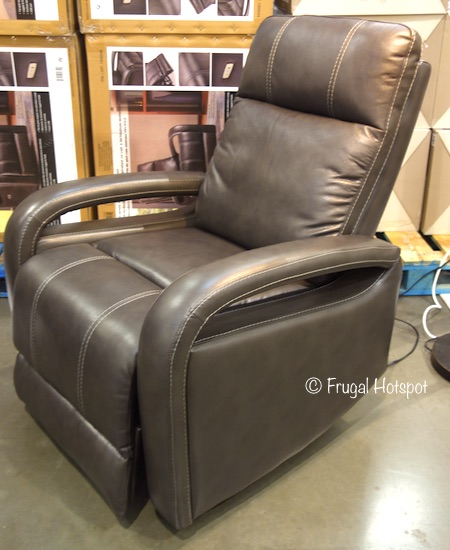Leather Power Swivel Glider Recliner at Costco