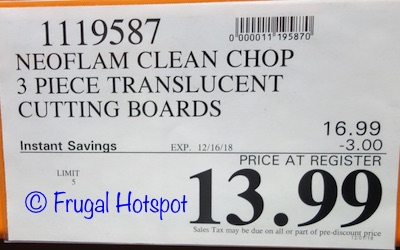 Costco Sale Price: Neoflam Clean Chop 3-Piece Cutting Boards