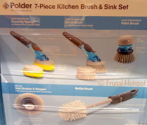 Polder Kitchen Brush + Sink 7-Piece Set at Costco
