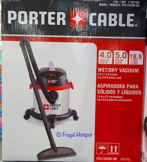 Porter Cable Stainless Steel Wet / Dry Vacuum at Costco