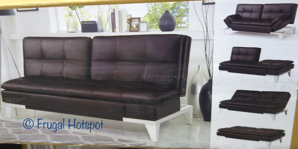 Relax A Lounger Jeneva Bonded Leather Euro Lounger at Costco