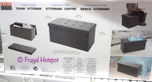 Seville Classics Foldable Storage Trunk at Costco