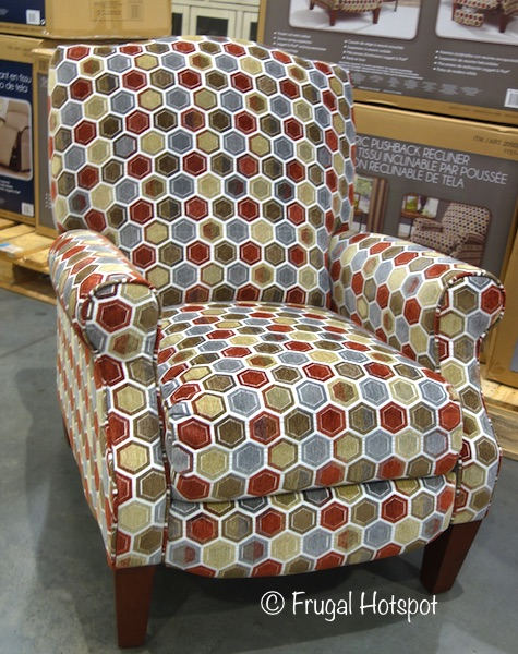 Synergy Home Furnishings Fabric Pushback Recliner at Costco