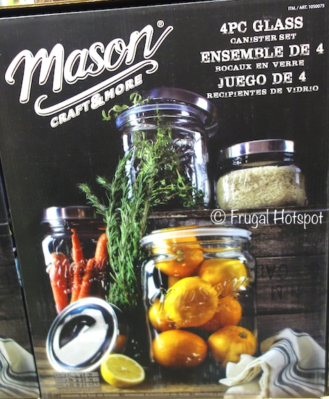 Costco: TTU Glass Mason Craft and More 4-Piece Glass Canister Set $19.99