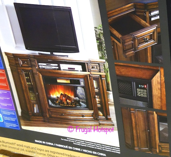 "Well Universal Ember Hearth 72"" Media Console with Electric Fireplace at Costco"