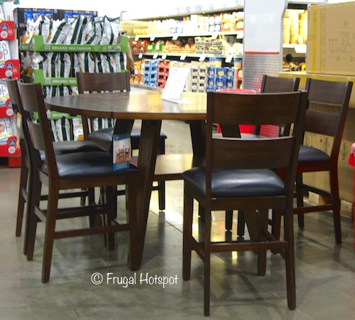 Bayside Furnishings Dillon 7-Pc Square to Round Counter Height Dining Set at Costco