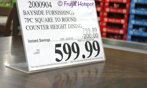 Costco Sale Price: Bayside Furnishings Dillon 7-Pc Square to Round Counter Height Dining Set