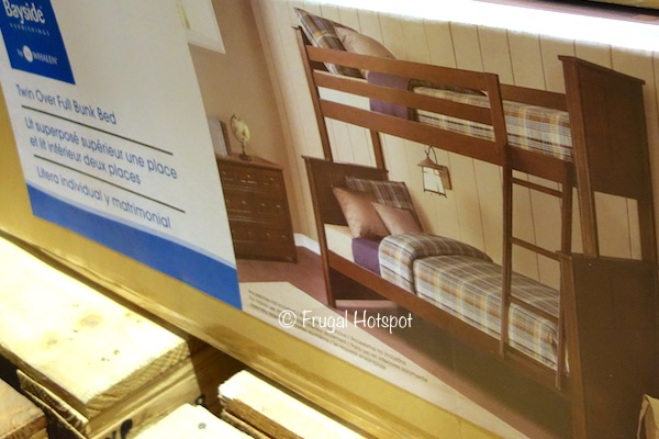 Bayside Furnishings Midland Twin Over Full Bunk Bed at Costco