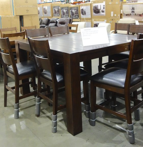 Costco Sale: Bayside Furnishings Ulysses 9-Pc Counter Height Dining Set $600