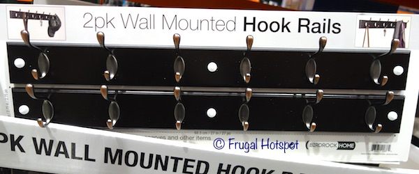 Birdrock Home 2-Pack Wall Mounted Hook Rail in Espresso finish at Costco