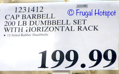 Costco Price: CAP 200 lb Dumbbell Set with Rack