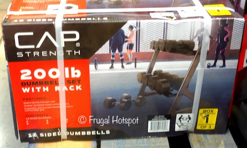 CAP 200 lb Dumbbell Set with Rack at Costco