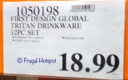 Costco Price: First Design Global Tritan Drinkware 12-Piece Set