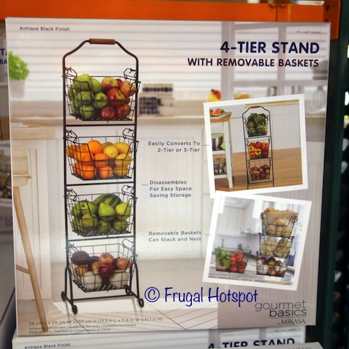 Gourmet Basics Ferme 4-Tier Stand with Removable Market Baskets Kitchen at Costco