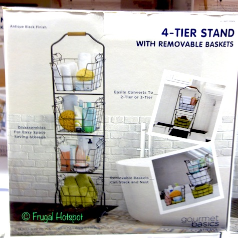 Gourmet Basics Ferme 4-Tier Stand with Removable Market Baskets Bathroom at Costco