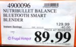 Costco Sale Price: Nutribullet Balance Bluetooth Smart Blender