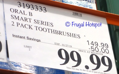 Costco Sale Price: Oral B Smart Series Rechargeable Toothbrush 2-Pack