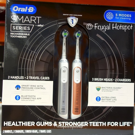 Oral B Smart Series Rechargeable Toothbrush 2-Pack at Costco