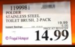 Polder 2-Pack Stainless Steel Toilet Brush Costco Sale Price