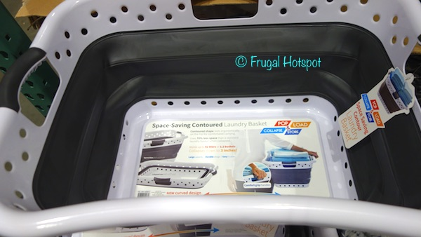 Pop & Load Space-Saving Contoured Laundry Basket at Costco