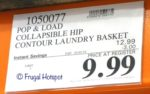 Costco Sale Price: Pop & Load Space-Saving Contoured Laundry Basket
