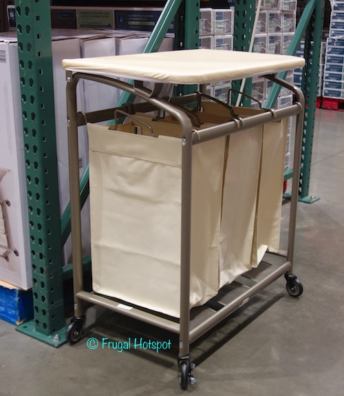 Seville 3-Bag Laundry Sorter with Folding Table at Costco