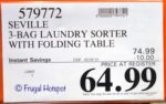 Costco Sale Price: Seville 3-Bag Laundry Sorter with Folding Table