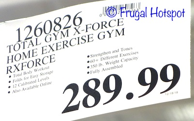 Costco Price: Total Gym X Force