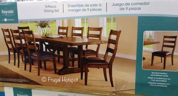 Whalen Bayside Furnishings Washington 9-Piece Dining Set at Costco