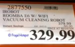 iRobot Roomba E6 Wi-Fi Connected Vacuum Cleaning Robot Costco Sale Price
