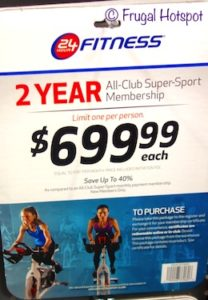 24 Hour Fitness 2-Year All Club Super Sport membership at Costco