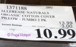 Costco Sale Price: Allerease Organic Cotton Cover Allergy Protection Pillow Jumbo 2-Pack