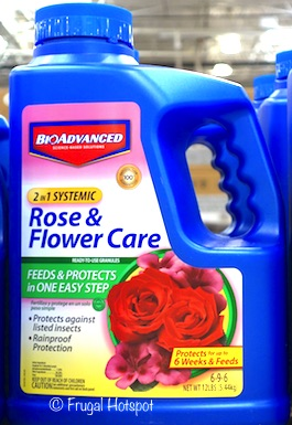 BioAdvanced 2-in-1 Rose and Flower Care Granules 12 lbs (Item #1125842) at Costco