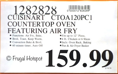 Costco Price: Cuisinart AirFryer Toaster Oven