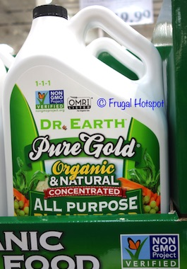 Dr. Earth Pure Gold Organic and Natural Concentrated All Purpose Plant Food 1 Gallon (Item #1210746) at Costco