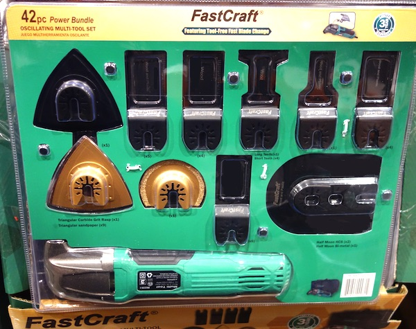 FastCraft 42-Piece Oscillating Multi-Tool Set at Costco