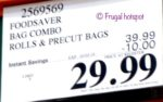 Costco Sale Price: FoodSaver Special Value Combo Pack
