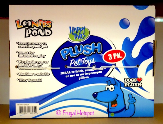 Happy Tails Loonies Pond Plush Pet Toys 3-Pack at Costco