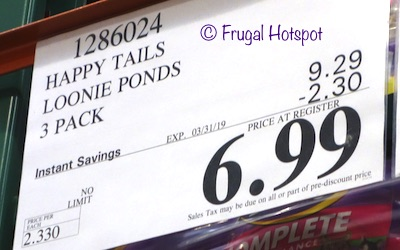 Costco Sale Price: Happy Tails Loonies Pond Plush Pet Toys 3-Pack