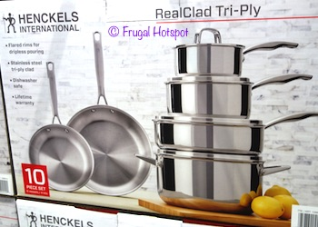 J.A. Henckels 10-Piece Stainless Steel Cookware at Costco