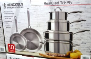 J.A. Henckels International 10-Piece RealClad Tri-Ply Stainless Steel Cookware at Costco